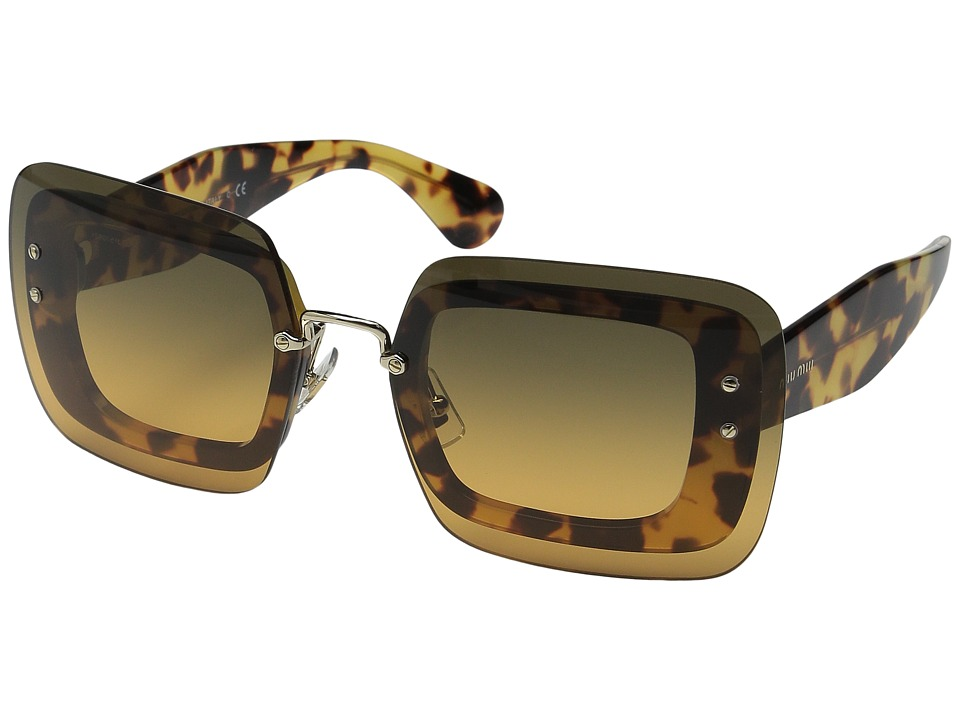 Miu Miu 0MU 01RS Tortoise/Brown Gradient Fashion Sunglasses
