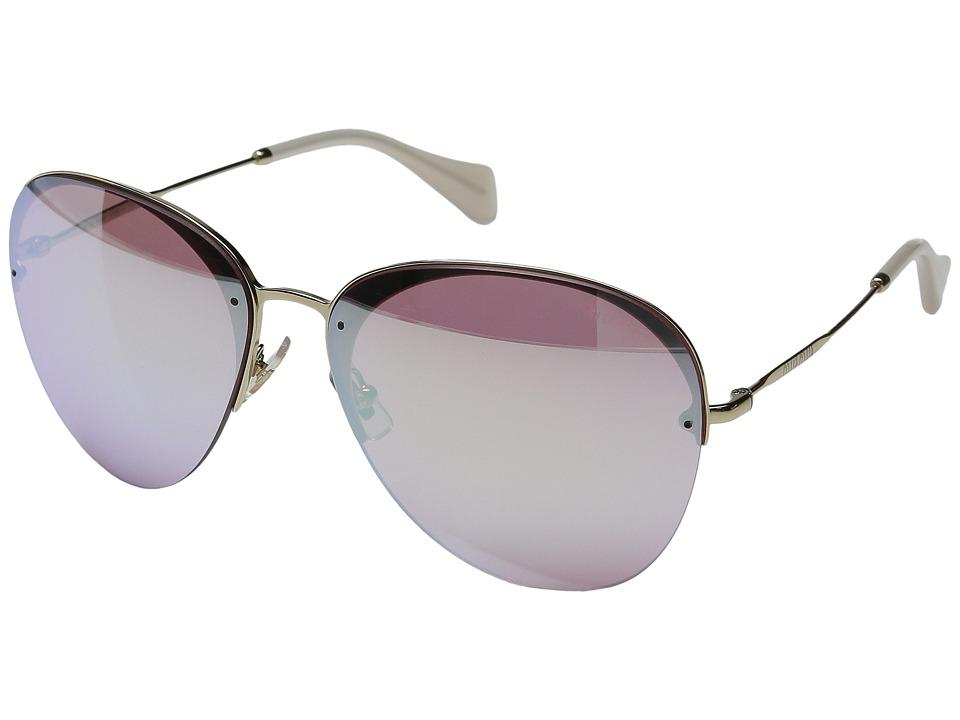 Miu Miu 0MU 53PS Pink/Rose Gold Mirror Fashion Sunglasses