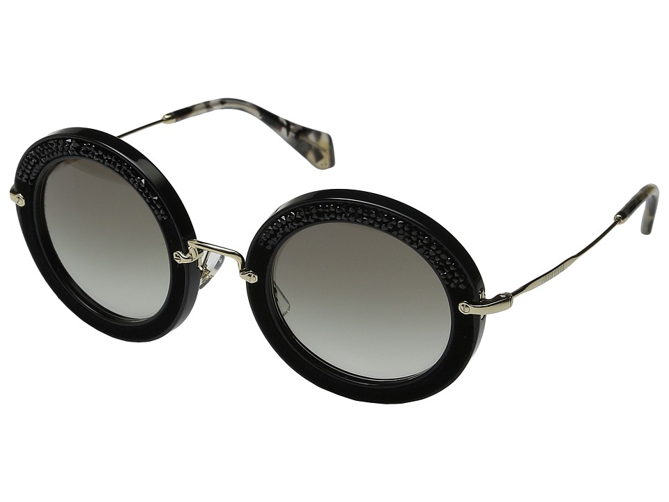 Miu Miu 0MU 08RS Black/Grey Gradient Fashion Sunglasses