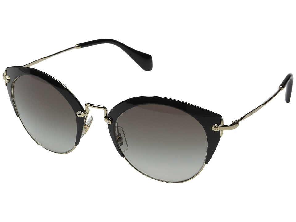 Miu Miu 0MU 53RS Black/Grey Gradient Fashion Sunglasses