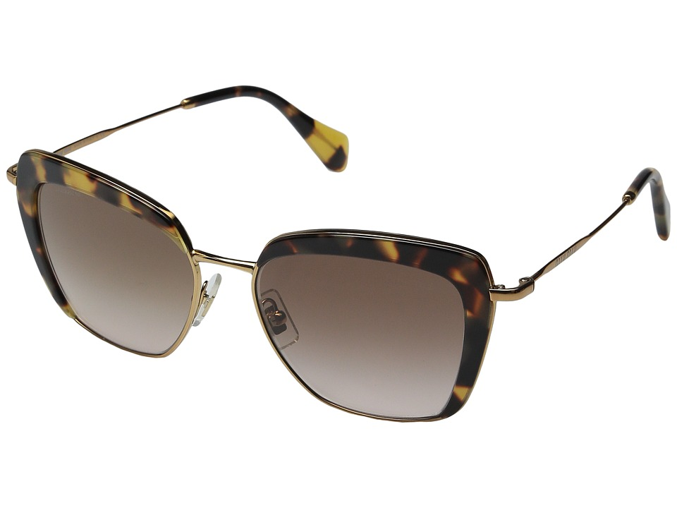 Miu Miu 0MU 52QS Tortoise/Brown Gradient Fashion Sunglasses