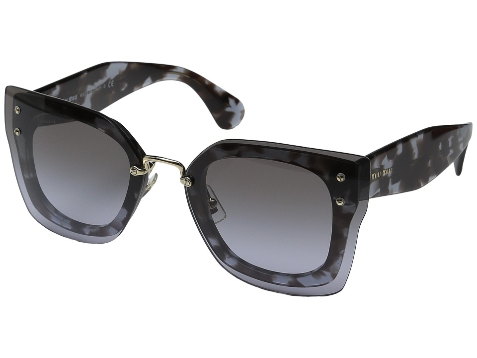 Miu Miu 0MU 04RS Black/Grey Tortoise/Grey Gradient Fashion Sunglasses