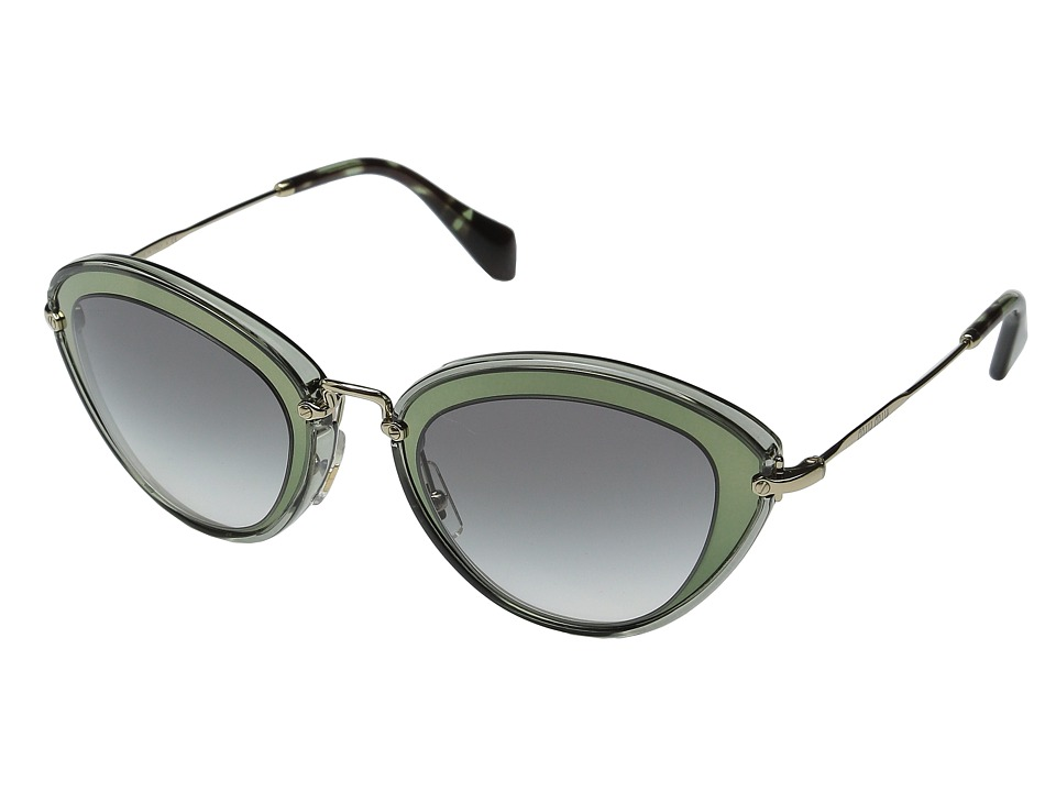 Miu Miu 0MU 51RS Green/Grey Gradient Fashion Sunglasses