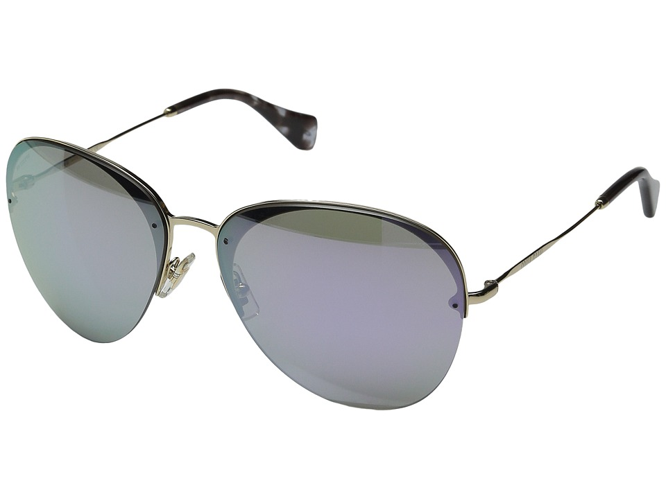 Miu Miu 0MU 53PS Grey/Blue Mirror Fashion Sunglasses