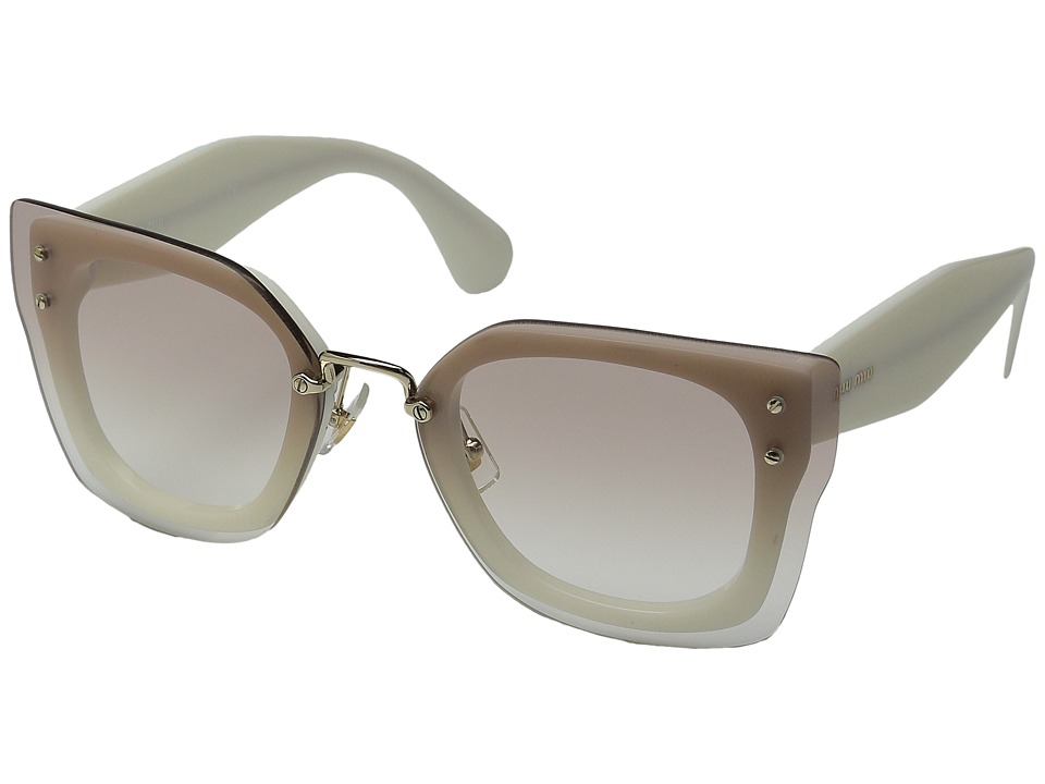 Miu Miu 0MU 04RS Brown Cream/Brown Gradient Fashion Sunglasses