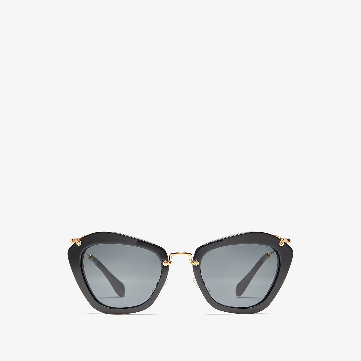 Miu Miu 0MU 10NS Black/Grey Gradient Fashion Sunglasses