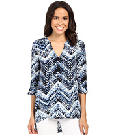 Michael Stars - Azure Print Split-Neck Hi Low Tunic