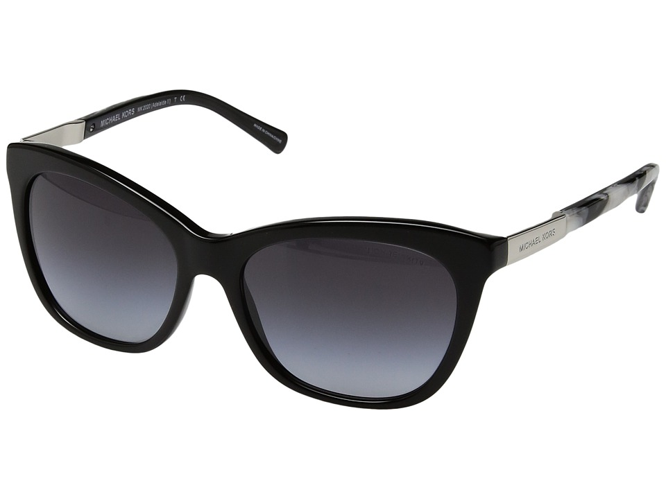 Michael Kors - Adelaide II (Black Metallic/Black Marble) Fashion Sunglasses