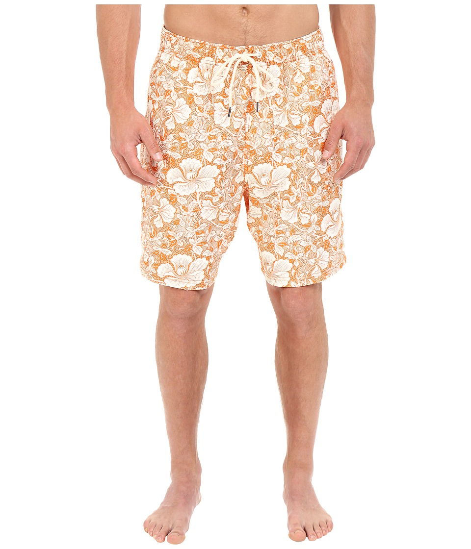 Nautica Big amp Tall Big Tall Quick Dry Floral Print Swim Trunk Fireside Mens Swimwear