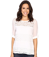 Calvin Klein - Mixed Lace Roll Sleeve