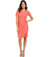 Calvin Klein - Floral Lace Cap Sleeve Sheath Dress