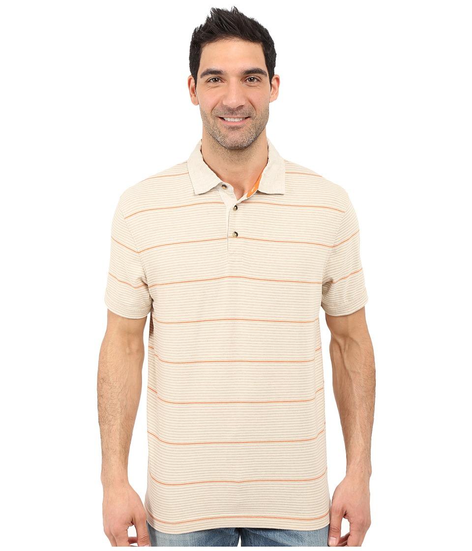 Nautica Short Sleeve Yarn Dyed Polo Linen Collar Sand Cove Mens Short Sleeve Pullover