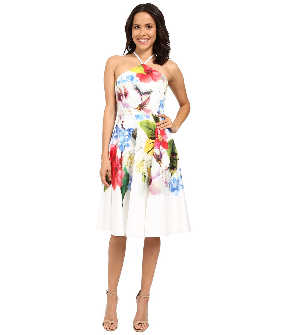 Ted Baker Corpina Forget Me Not Halterneck Dress White Womens Dress