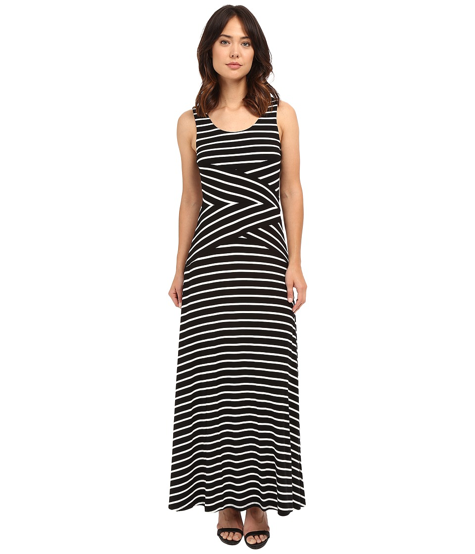 Calvin Klein Maxi Stripe Dress Black Combo 2 Womens Dress