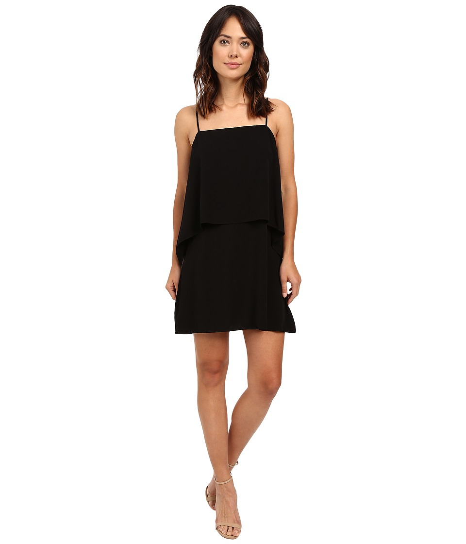 Splendid Rayon Voile Tiered Dress Black Womens Dress