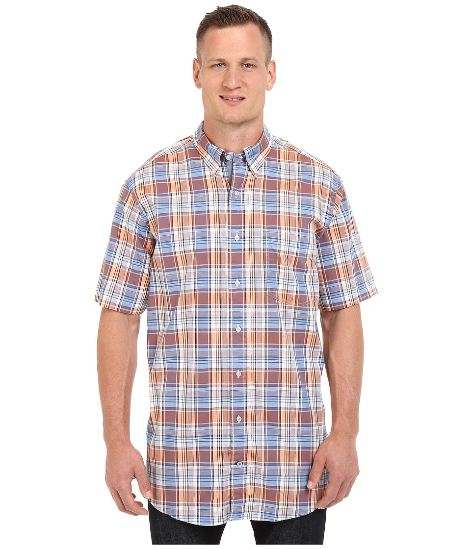 Nautica Big amp Tall Big Tall Fireside Plaid Short Sleeve Shirt Fireside Mens Clothing