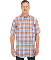 Nautica Big & Tall - Big & Tall Fireside Plaid Short Sleeve Shirt