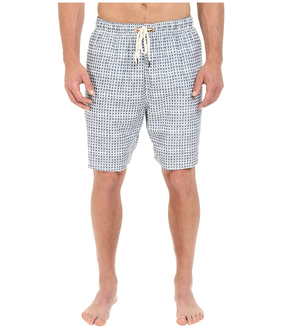 Nautica Big amp Tall Big Tall Quick Dry Geo Print Swim Trunk Sailcream Mens Swimwear