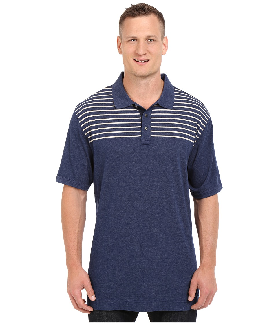 Nautica Big amp Tall Big Tall Chest Stripe Polo Shirt Marine Blue Mens Short Sleeve Knit
