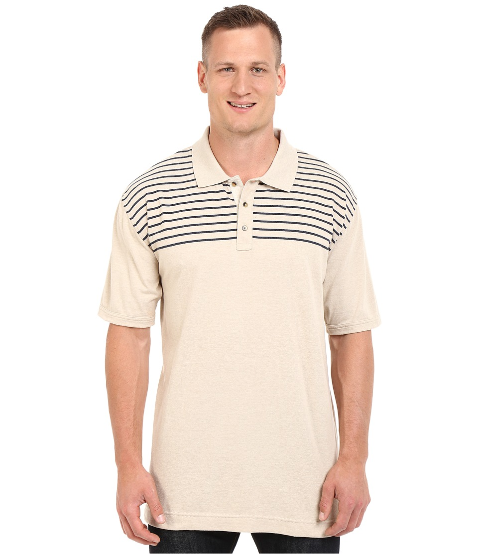 Nautica Big amp Tall Big Tall Chest Stripe Polo Shirt Sand Cove Mens Short Sleeve Knit