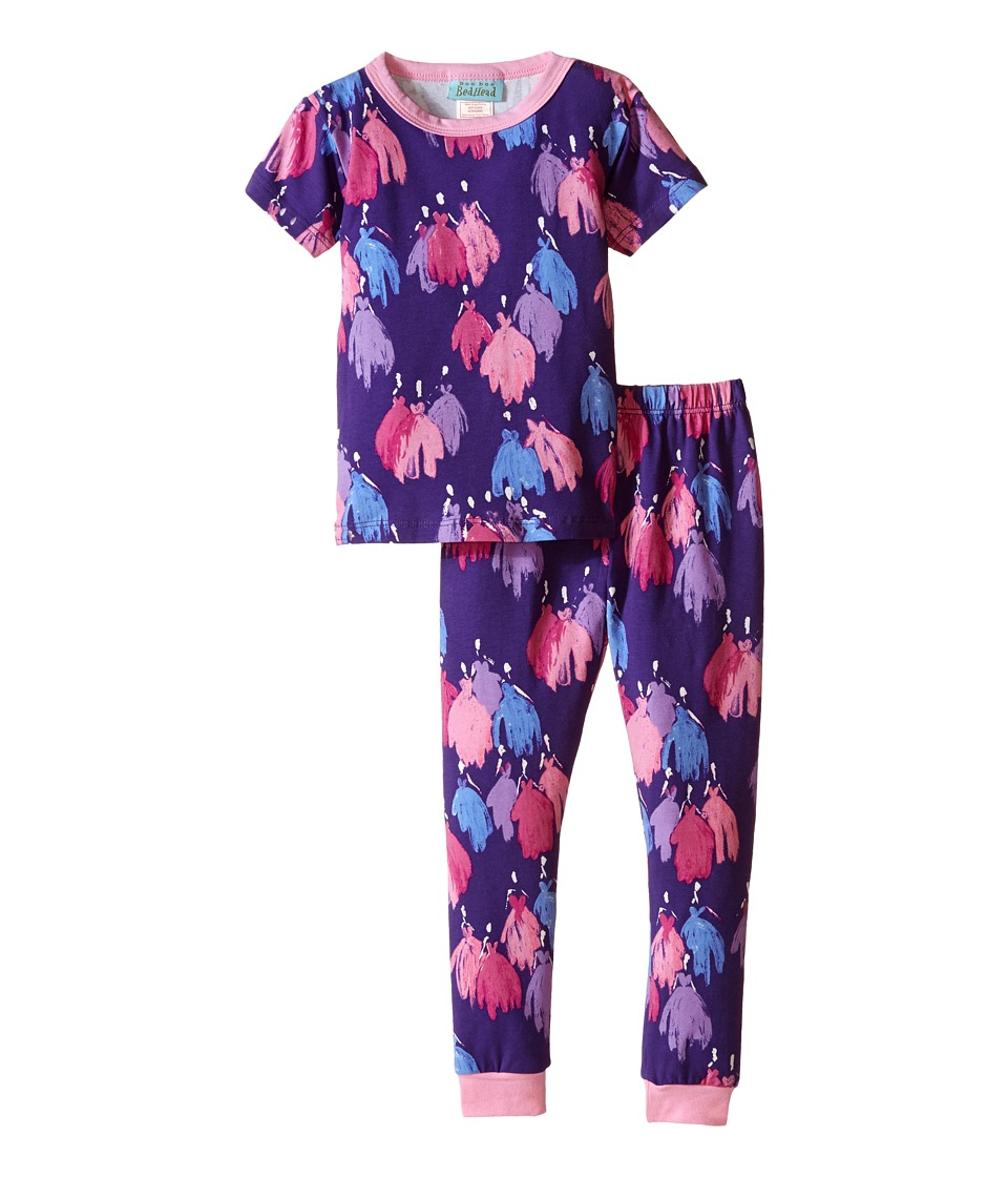 BedHead Kids Short Sleeve Long Bottom Pajama Set Toddler/Little Kids Purple Bell of the Ball Girls Pajama Sets