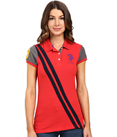 U.S. POLO ASSN. - Color Block Diagonal Striped Polo Shirt