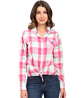 U.S. POLO ASSN. - Classic Button Front Poplin Plaid Woven Shirt