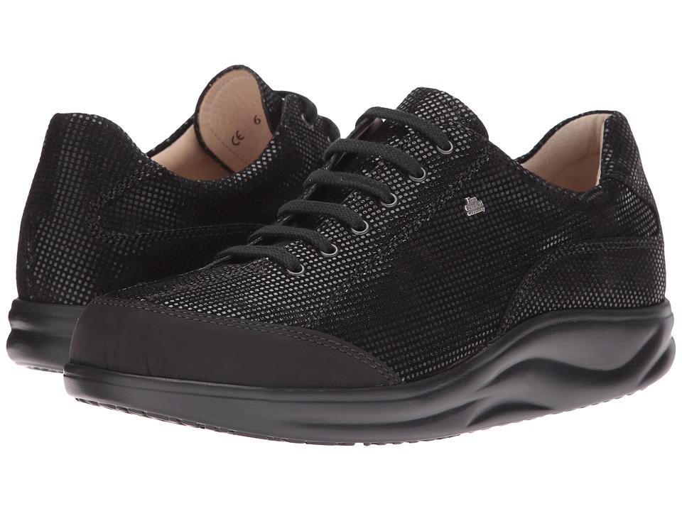 Finn Comfort Busan (Black Points Buggy) Women's Lace Up Moc Toe Shoes