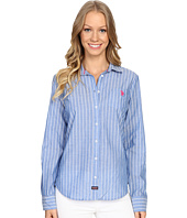 U.S. POLO ASSN. - Vertical Striped Cotton Poplin Shirt