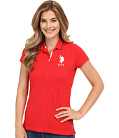 U.S. POLO ASSN. - Dot Print Pique Polo Shirt