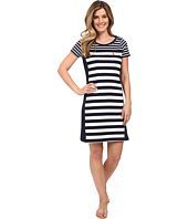 U.S. POLO ASSN. - Solid and Stripes Scoop Neck Short Sleeve Dress