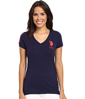 U.S. POLO ASSN. - Lace V-Neck T-Shirt