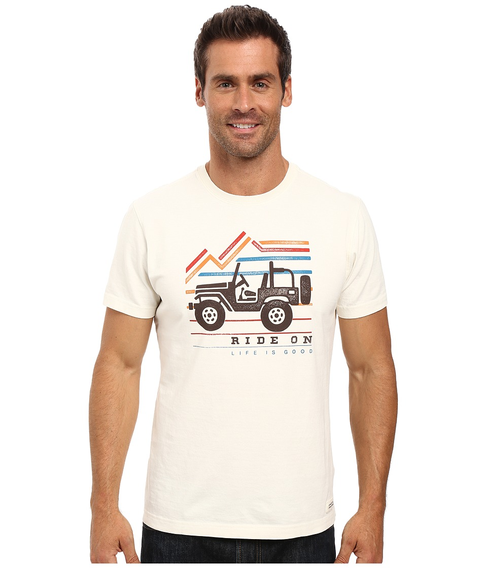Life is good - Ride On Mountain Crusher Tee (Simply Ivory) Men