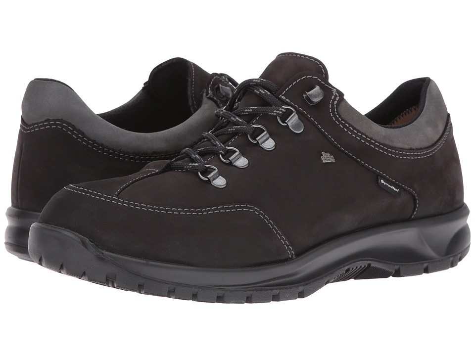 Finn Comfort Murnau (Black/Asphalt Buggy/Patagonia) Lace up casual Shoes