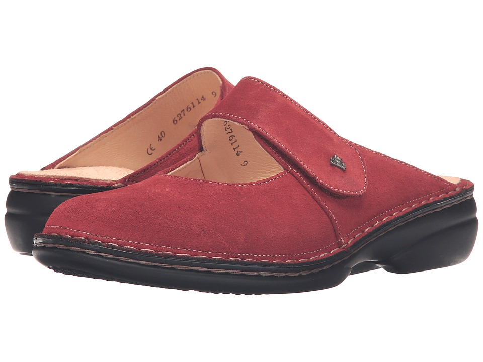 Finn Comfort Stanford (Inkared Velour) Women's Clogs/Mule Shoes
