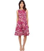 Maggy London - Japanese Blossom Printed Cotton Fit and Flare Dress