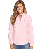 U.S. POLO ASSN. - Dot Print Oxford Shirt