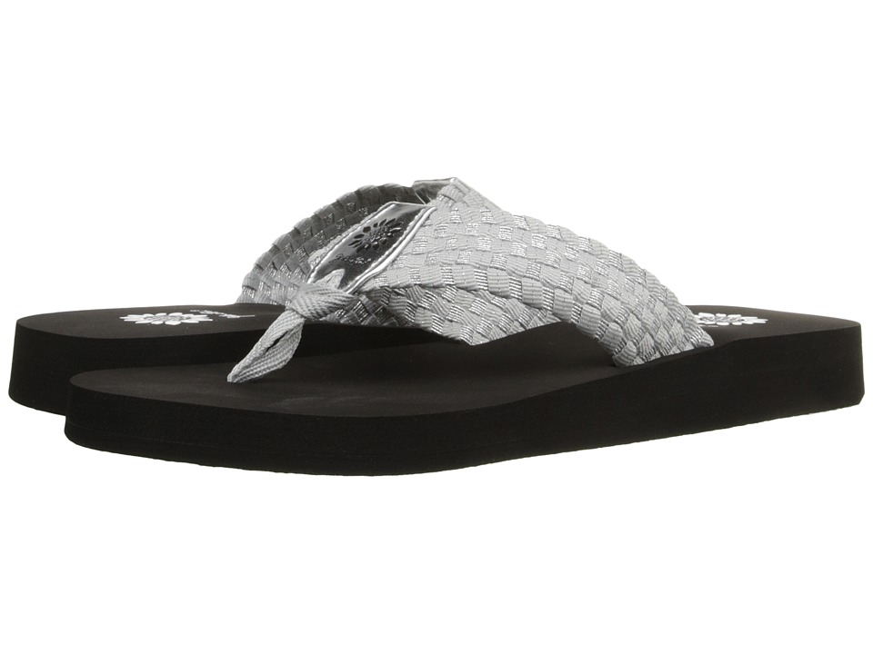 Yellow Box Soleil Black/Silver Womens Sandals