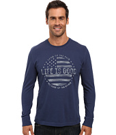 Life is good - Land Of The Free Flag Long Sleeve Crusher Tee