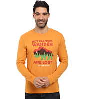 Life is good - Not All Who Wander Buffalo Long Sleeve Cool Tee
