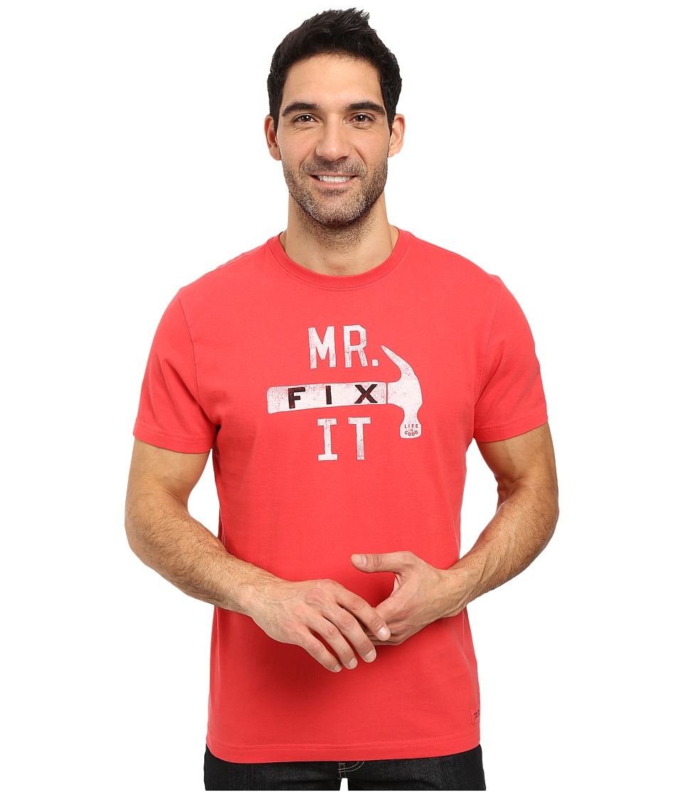 Life is good Mr. Fix It Hammer Crusher Tee (Simply Red) Men