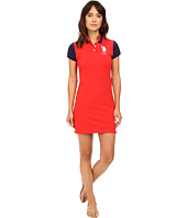 U.S. POLO ASSN. - Color Block Stretch Pique Polo Dress