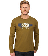 Life is Good - Spread Good Vibes Stripe Long Sleeve Crusher Tee