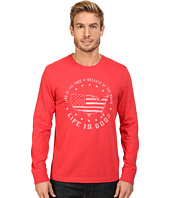 Life is Good - Land Of The Free USA Map Long Sleeve Crusher Tee
