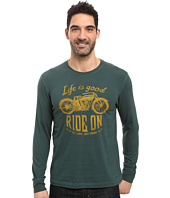 Life is Good - Ride On Motorcycle Long Sleeve Crusher Tee