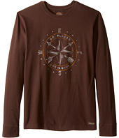Life is good - Go Places Compass Long Sleeve Crusher Tee