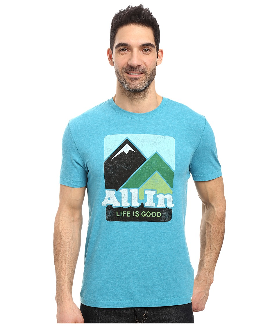 Life is good All In Mountains Cool Tee (Vivid Blue) Men