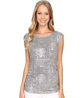 Calvin Klein - Sleeveless Top w/ Shoulder Buttons