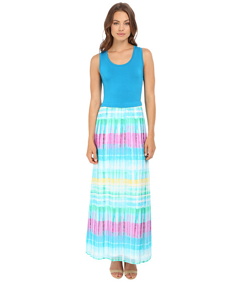 Calvin Klein Maxi Dress w/ Chiffon Bottom