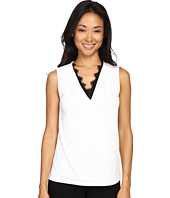 Calvin Klein - Sleeveless Top w/ Lace Trim